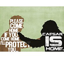 Rise of the Planet of the Apes: Caesar is Home Photographic Print