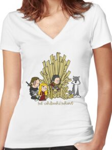 The Cardboard Throne extended cast Women's Fitted V-Neck T-Shirt