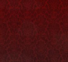 Red damask Sticker