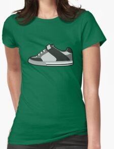 Black & White Sneaker Womens Fitted T-Shirt