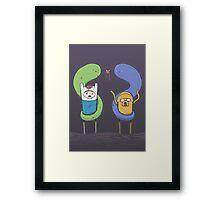 Adventure Time - Halloween Love Framed Print