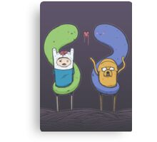 Adventure Time - Halloween Love Canvas Print