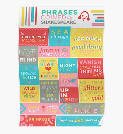 Phrases coined by Shakespeare Poster
