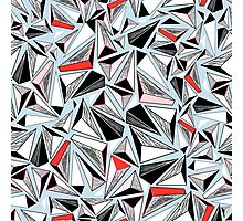abstract pattern of graphic triangles Photographic Print