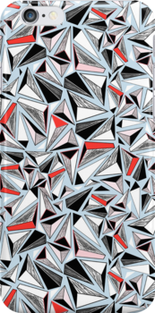 abstract pattern of graphic triangles by Tanor
