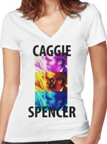 Caggie & Spencer Women's Fitted V-Neck T-Shirt