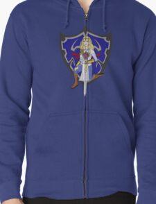 Zelda in armour Zipped Hoodie