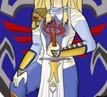 Zelda in armour Sticker