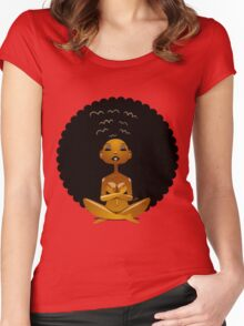 Afro Girl Spirit Women's Fitted Scoop T-Shirt