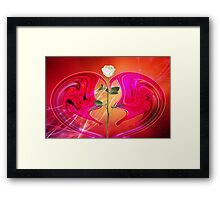 A groovy love © Framed Print