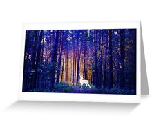 Harry's Patronus - White Stag in a Magical Forest Greeting Card