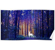 Harry's Patronus - White Stag in a Magical Forest Poster
