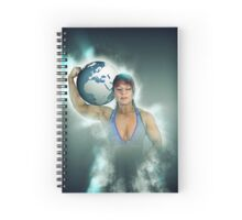 Female Atlas holds the world on her shoulder  Spiral Notebook