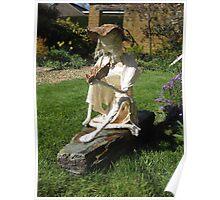 Farrah - Girl with Butterfly Fabric Garden Sculpture Poster