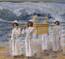 James Tissot - The Ark Passes Over the Jordan by TilenHrovatic