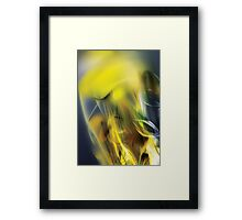 Digital abstract yellow wave background Framed Print