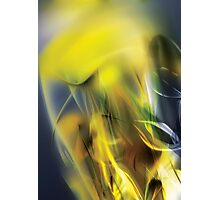 Digital abstract yellow wave background Photographic Print