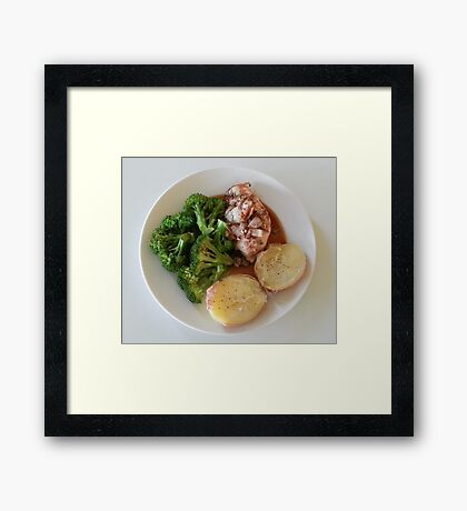 Rosemary-Garlic-Balsamic Chicken Breasts Framed Print