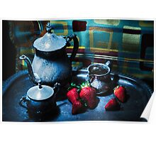 Strawberries Are Served Poster