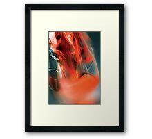Red flow wave digital illustration Framed Print