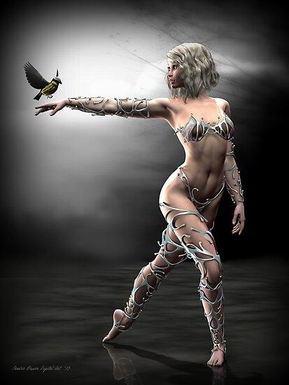 Songbird by Sandra Bauser Digital Art