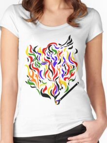 Paint a Fire! Women's Fitted Scoop T-Shirt
