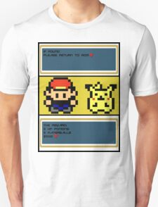 8-Bit Ash and Pikachu T-Shirt