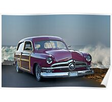 1950 Ford Woody Surf'n Wagon Poster