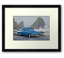 1957 Chevrolet F.I. Coupe Framed Print