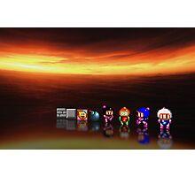 Super Bomberman pixel art Photographic Print