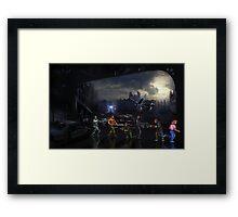 Terminator Sega Mega CD pixel art Framed Print