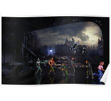 Terminator Sega Mega CD pixel art Poster
