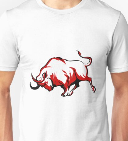 Fighting Bull Emblem  Unisex T-Shirt