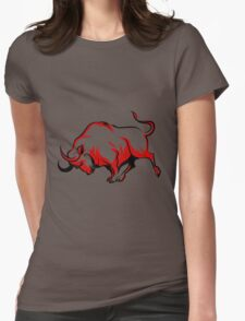 Fighting Bull Emblem  Womens Fitted T-Shirt