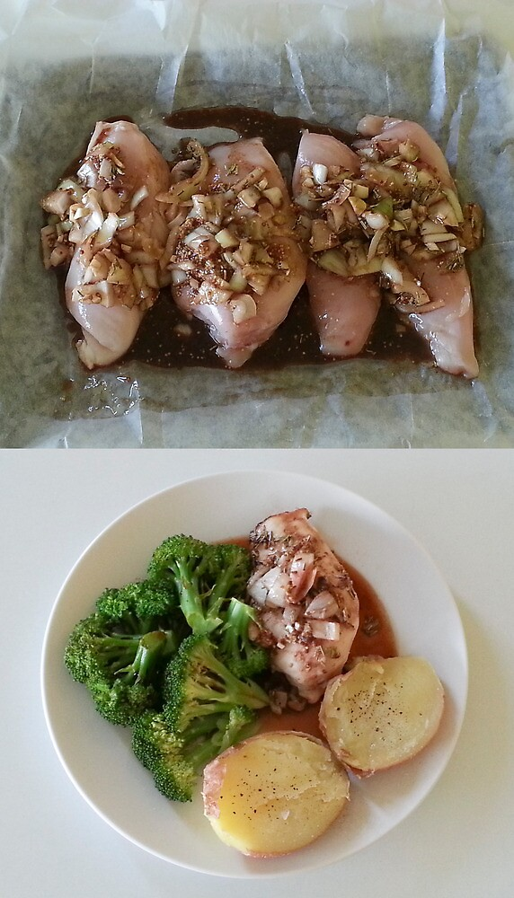 Before And After Chicken Balsamic by Michael Redbourn
