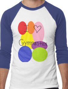 I love gymnastics Men's Baseball ¾ T-Shirt
