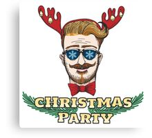 Hipster Christmas Party Design Canvas Print