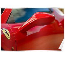 Ferrari 458 Abstract Poster