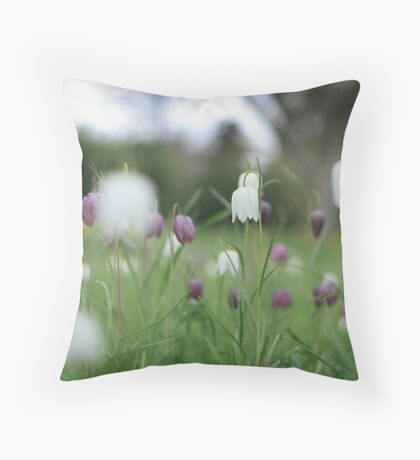 Wildflowers emerge at Downton Abbey Throw Pillow
