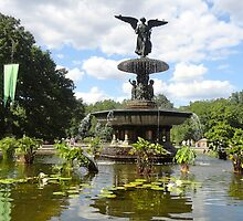 Bethesda Fountain In Central Park by Nancy Badillo