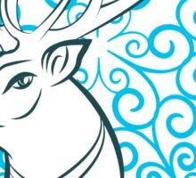 Merry Christmas Reindeer Sticker