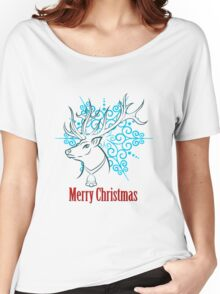 Merry Christmas Reindeer Women's Relaxed Fit T-Shirt