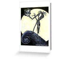 Tim Burton the Pumpkin King Greeting Card