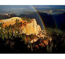 Rainbow over Bryce Canyon Photographic Print