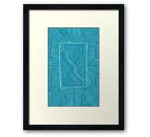 Turquoise Geo Framed Print