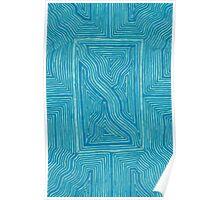 Turquoise Geo Poster