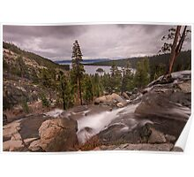 Looking Over Eagle Falls Poster