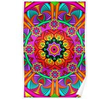 Happiness, fractal mandala / kaleidoscope artwork Poster