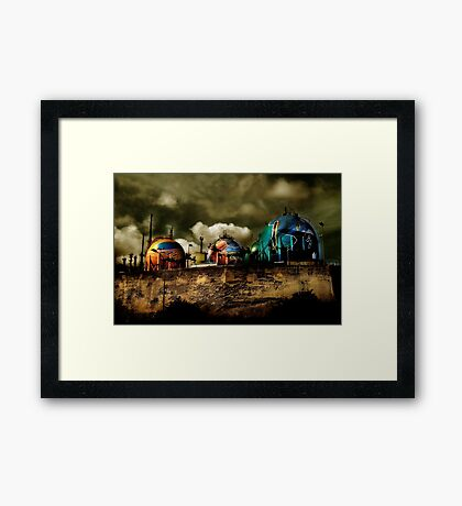 nightmare at the seaside Framed Print