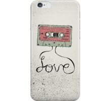 Love Cassette Tape iPhone Case/Skin
